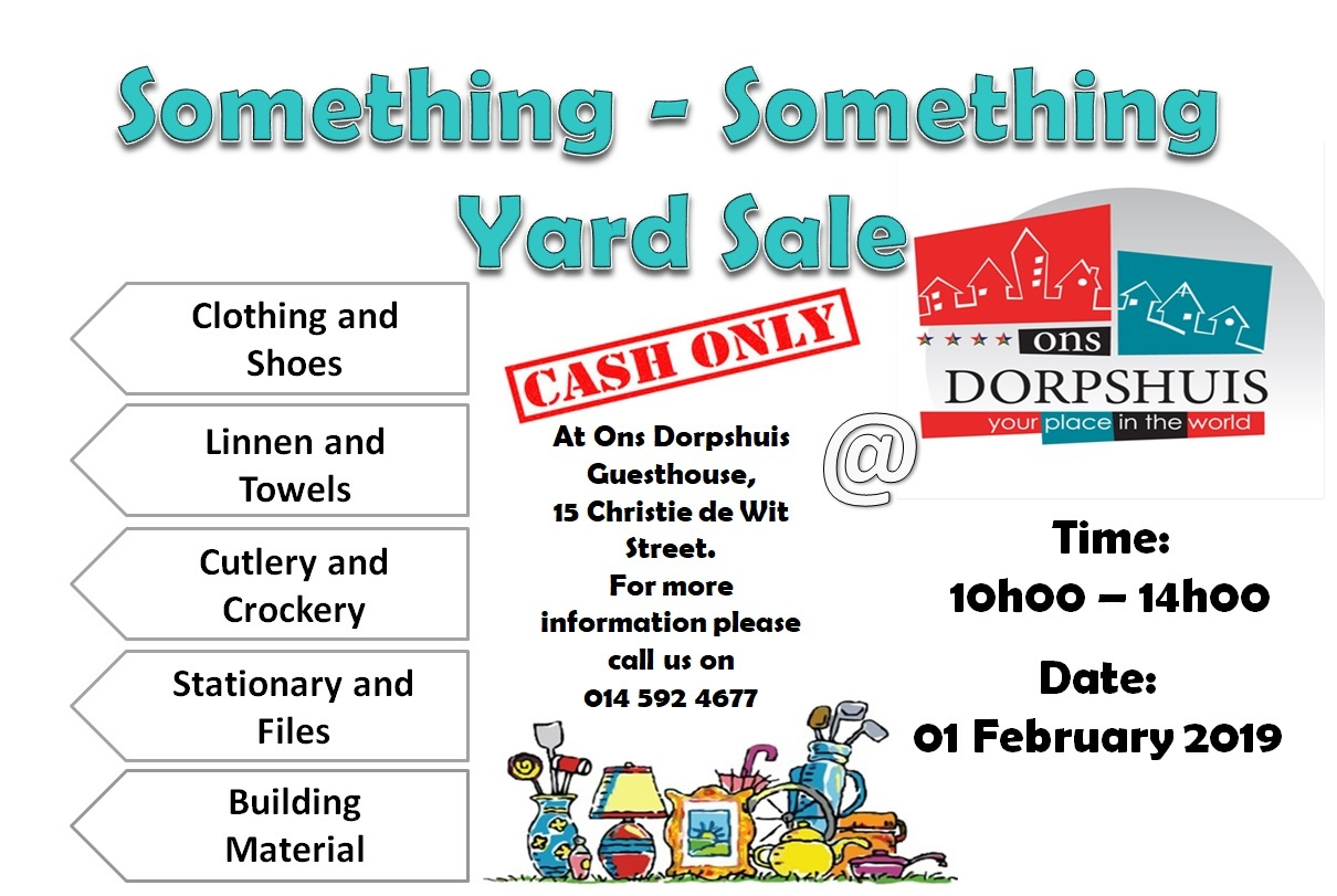 Yard Sale Feb